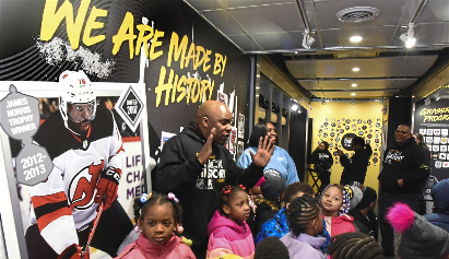 NHL's Black Hockey History mobile museum visits Miller Elementary in Hill District