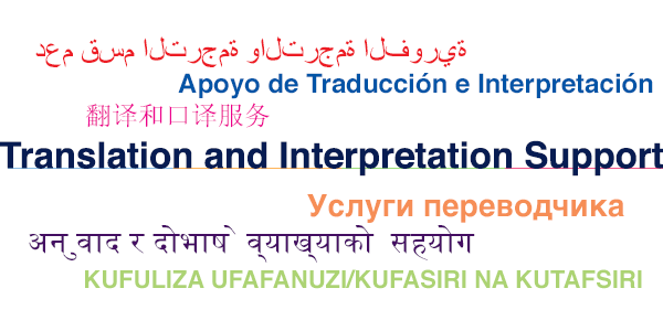 Translation and Interpretation Support