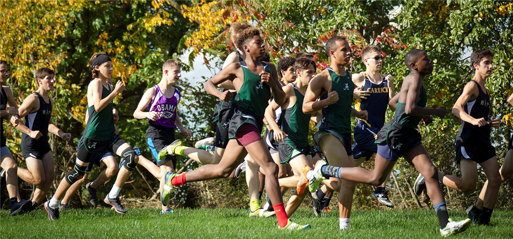 Group of Cross Country Runners