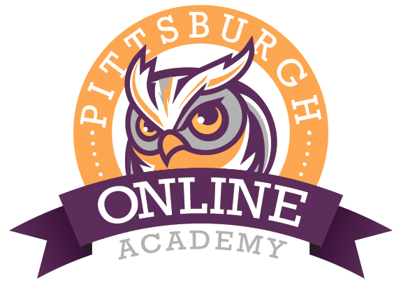 Pittsburgh Online Academy (Owl Graphic Logo)