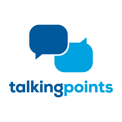 Talking Points Logo with two word bubbles