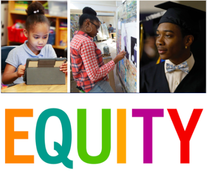 3 pictures of Students - Equity Title