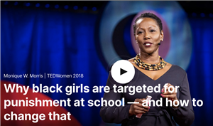"Click to watch ""Why black girls are targeted for punishment at school -- and how to change that"""