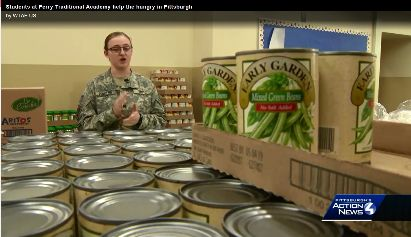 Students at Perry Traditional Academy help the hungry in Pittsburgh