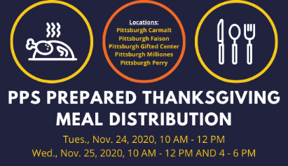 Pittsburgh Public Schools, United Way of Southwestern PA, Eat'n Park Hospitality Group, and Community Kitchen Provide Thanksgiving Meals to PPS Families